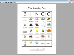 view document thanksgiving day bingo cards clip edition