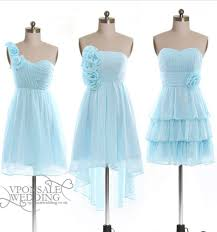 baby blue short floral bridesmaid dress dvw0150 for winter wedding