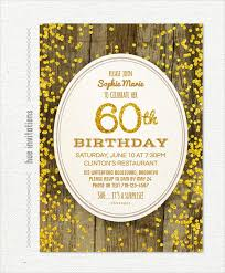 22 60th birthday invitation templates u2013 free sample example