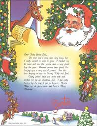santa claus letters personalized santa letter from santa claus caucasian or