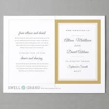 wedding program template printable wedding programs folded