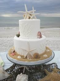 simple beach wedding cakes tidal treasures