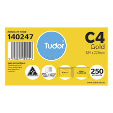 Pocket Envelopes Tudor C4 Kraft Pocket Envelopes 250 Pack Officeworks