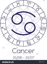 cancer colors zodiac zodiac sign cancer astrological chart symbols stock vector