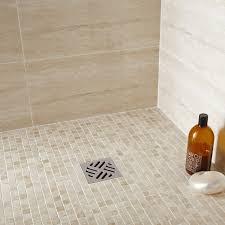 travertin salle de bain mosaïque sol et mur mineral travertin ivoire leroy merlin