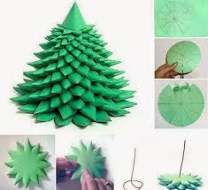 Free Christmas Crafts Ideas Diy Layered Paper Christmas Tree Free Template