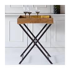 wooden tray table incl removable tray