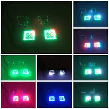 led cubes 3 led cubes pods rgbw chasing halo light bars