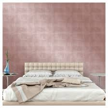 Peal And Stick Wall Paper Devine Color Metallic Leaf Peel And Stick Wallpaper Rose Gold