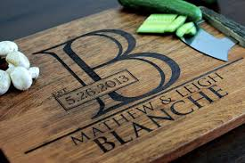 monogramed cutting boards personalized cutting boards home and decoration