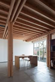 ft architects u0027 4 columns house features a timber frame columns