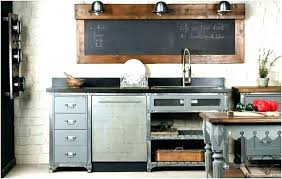 cuisine bois et metal buffet metal et bois mulligansthemovie com