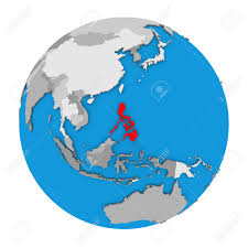 Philippines Map World by Map Of Philippines Highlighted In Red On Globe 3d Illustration