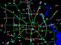 Houston Transtar Traffic Map Road Closures And Driving Conditions Wednesday U2013 Houston Public Media