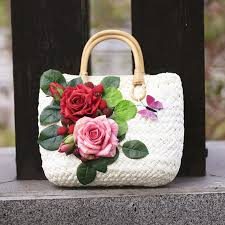 luxury flowers summer straw bags for women 2017 luxury flowers handmade woven