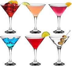 christmas martini glass rink drink martini cocktail glasses 175ml 6oz gift box of 6