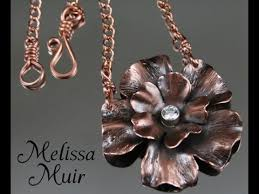metal flower necklace images Making a copper flower pendant from start to finish jpg