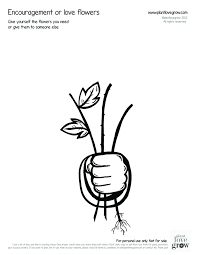 bucket filling coloring pages self esteem plant love grown
