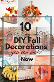 10 insanely easy and cheap diy fall decorations you can make now