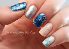 fundamentally flawless christmas nail art frosty snowflakes