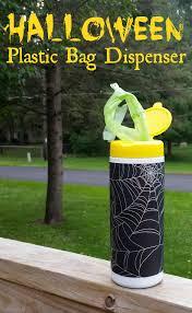 plastic halloween bags diy halloween plastic bag dispenser u0026 lysol giveaway