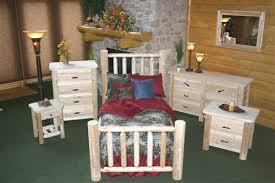cedar log bedroom sets rustic wood bedroom set