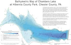 Where Is Pennsylvania On The Map by Bathymetric Map Of Chambers Lake At Hibernia County Park Chester