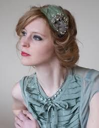 1950s headband bridal headband feather headband tiara pearl headband