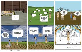 cain and abel comic strip storyboard by austin6869