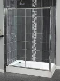 Sliding Shower Door 1200 Shine Sliding Shower Door 1200mm Polished Silver Fen0903aqu