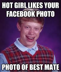 Hot Meme Girl - hot girl likes facebook photo bad luck brian know your meme
