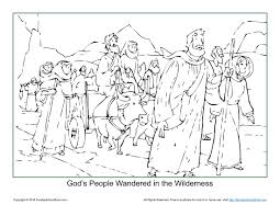 god u0027s people wandered in the wilderness coloring page god u0027s