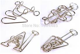 metal wire rings images 4pcs lot large size classic metal wire puzzle iq test mind brain jpg