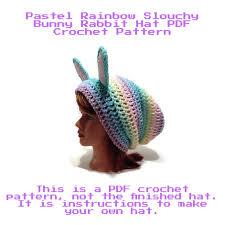 bunny hat pattern slouchy bunny hat pattern rabbit crochet