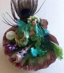 Mermaid Garden Decor Hand Sculpted Fairy Garden Mermaid Fairy Mermaid Fairy Garden