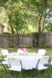 domestic fashionista backyard anniversary dinner party