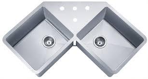 Double Bowl Stainless Steel Kitchen Sink Wells Sinkware 16 Gauge Handcrafted