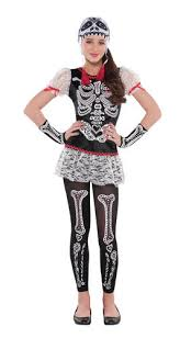 Halloween Costume Skeleton Dead Girls Fancy Dress Halloween Skeleton Skull Kids