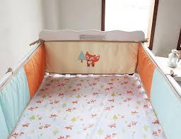 foxes woodland 4pc newborn crib bedding set baby cot set