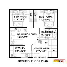 800 Square Feet Dimensions House Plan For 27 Feet By 27 Feet Plot Plot Size 81 Square Yards