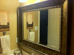 Framed Bathroom Mirrors by Plain Metal Framed Bathroom Mirrors Mirror Frame Diy With Dot
