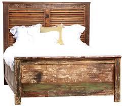 Vintage King Bed Frame Shabby Chic California King Panel Bed Frame Zin Home