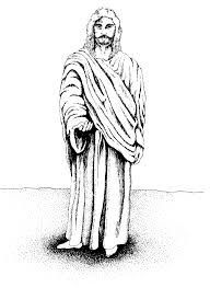 jesus black and white drawing images pictures becuo clip art