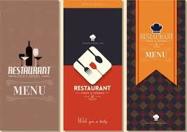 restaurant menu templates classical dark design vectors stock in