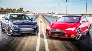 ultimate jeep head to head 2015 dodge charger srt hellcat vs 2015 tesla model s p85d head