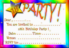 birthday party invitations 18th birthday party invitations theruntime
