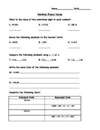 place value with decimals worksheets 5th grade 19 best math 5th grade place value images on 5th