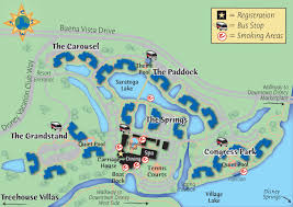 Walt Disney World Resorts Map by Saratoga Springs Disney Map Of Resort My Blog