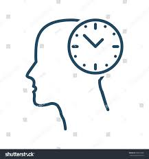 human clock vector icon meaning stock vector 602810888