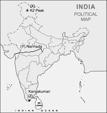 India Political Map On The Given Political Outline Map Of India Locate And Label The